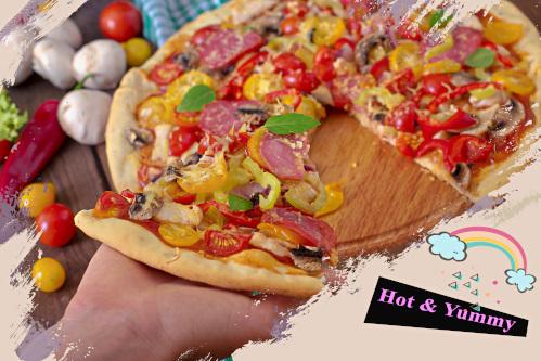 美味しそうなピッザ